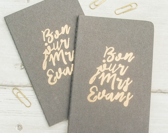 Mr & Mrs Wedding Personalised Notebook