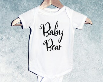 Baby Bear Bodysuit or T-shirts, Baby Shower Gift, Gift for Newborn Baby, Gift for Toddler, Gift for baby