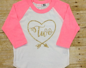 Second Birthday Raglan Shirt, Baseball Style Shirt, Birthday Shirt, Custom Birthday Shirt. Available ( One- Six)