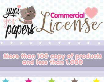 Commercial License, Commercial Use, License, Stickers License, Paper License, Stamps License, Royalty, Commercial Use License