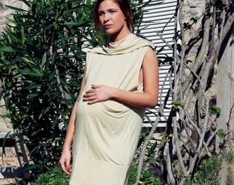 Maternity yellow party dress. BELEA