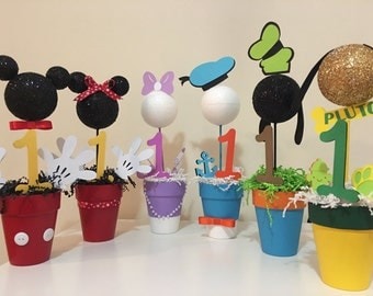 Mickey Mouse Clubhouse Centerpieces! All 6 Characters! Mickey, Minnie, Donald, Daisy, Goofy & Pluto!