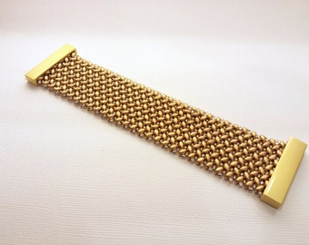 Gold Crystal Cuff, Gold Beaded Bracelet, Gold Beaded Cuff,  Bead Woven Bracelet, Gold Bracelet, Gold Cuff, Gold And Crystal  Custom Jewelry