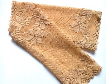 FREE Shipping Lace warmers, fingerless gloves, sand brown lace warmers, brown cuffs, lace accessories, party accessories