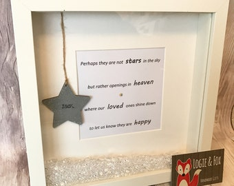 Perhaps They Are Not Stars Frame, Memorial Gift, Bereavement Gift, Photo Frame, Sympathy Gift, Remembrance Gift, Personalised Remembrance