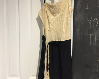 Mayle Asymmetrical Silk Two Tone Dress