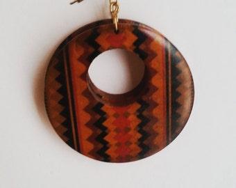Tribal Wooden Earrings