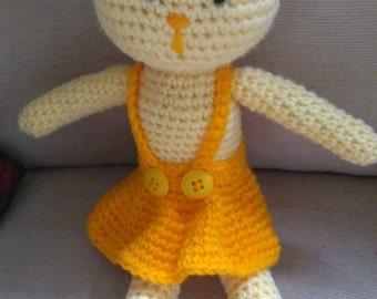 Hand crocheted Bunny girl
