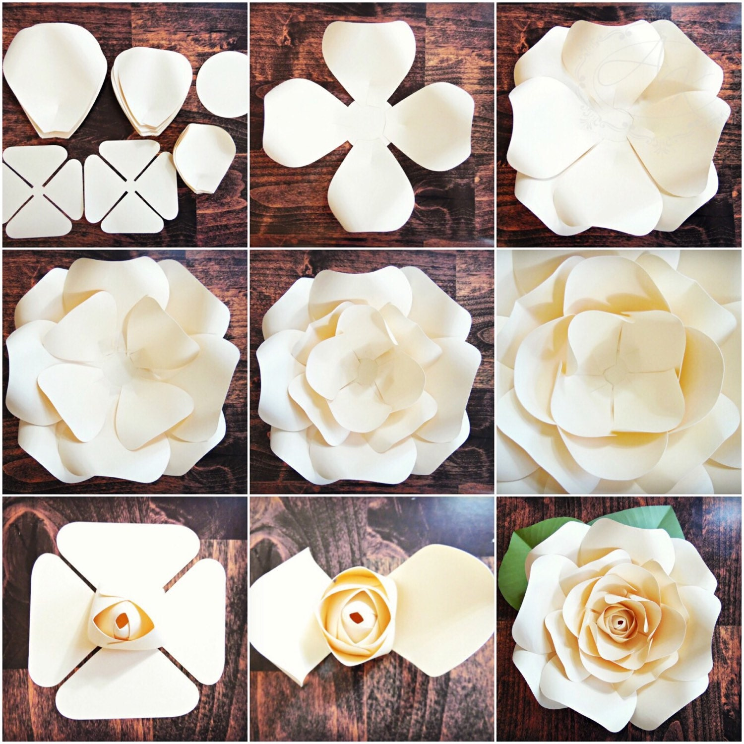 rose petal templates free - diy giant rose templates paper rose patterns tutorials