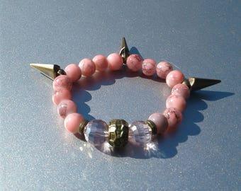 Women's Pink Spike bracelet