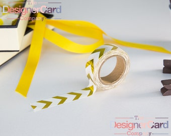 Gold Foil Chevrons Washi Tape Masking Tape