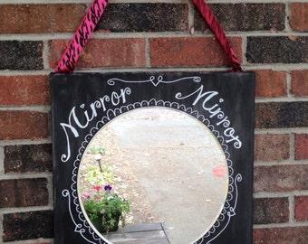 Mirror, Mirror chalkboard canvas