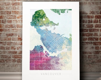Vancouver map Etsy