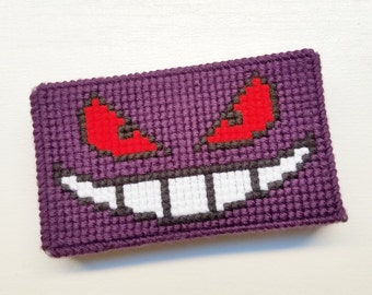 Gengar Inspired 3DS Case Protector - 3DS Case Protector - Gengar Case Protector - Pokemon Case Protector - Cross Stitch Case