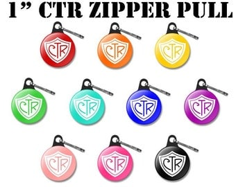 "TEN 2017 CTR SHIELD Zipper Pulls - Primary ""Choose the Right"" theme - (10)"