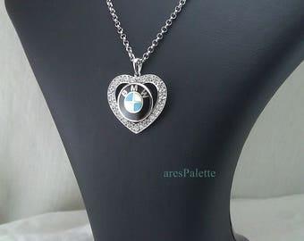 BMW Love Necklace-Handmade-925 silver - International Free Standart Shipping