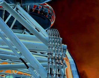 photograph of london eye, london eye, sci fi image of london eye, sci fi, superstructure, image of superstructure