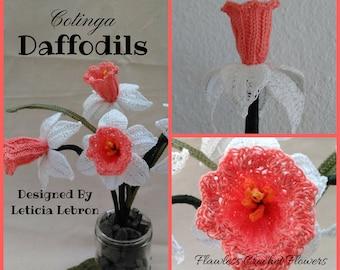 Crochet Daffodil Flower Pattern, Narcissus Flower, Crochet Flower Pattern, Daffodil Flower, Narcissus Daffodil