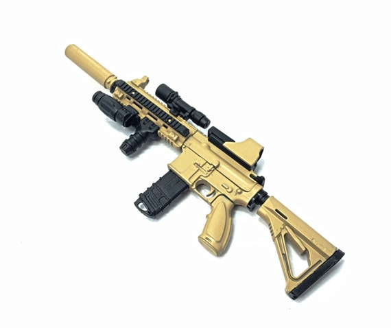 1/6 Scale Custom Desert HK416 Assault Rifle US Heckler & Koch