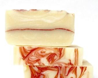 Sweet Romance Soap, Vegan Shea Butter Soap, Christmas Gift Soap for her or him, stocking stuffer