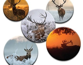 A pack of 5 winter theme stag Pattern weights Ideal for weighing down patterns on delicate fabrics no need for pins TV sewing Bee