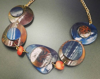 "Necklace ""tenderness of autumn"""