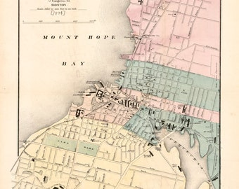 1874 Map of Fall River Massachusetts