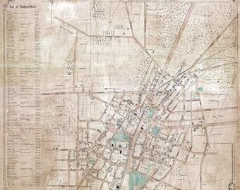 1850 Map of Saratoga Springs Saratoga County New York