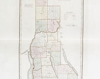 1841 Map of Cayuga County New York