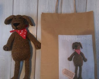 Ralph the Dog Knitting Kit - Make Your Very Own dog - Easy To Knit Pattern