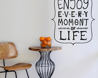 rvz2936 Wall Vinyl Decal Sticker Decal Words Sign Quote Enjoy Every Moment of Life