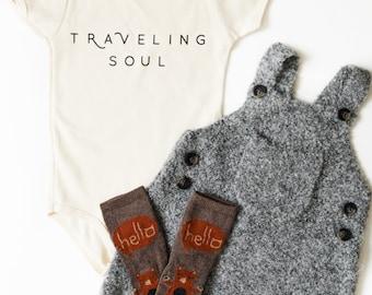Traveling Soul Infant Organic Bodysuit/ American Apparel/ Traveler