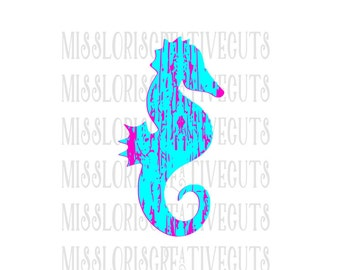 Sea Horse distressed SVG   cut file  t-shirts  antiquescrapbook vinyl decal wood sign cricut cameo Commercial use