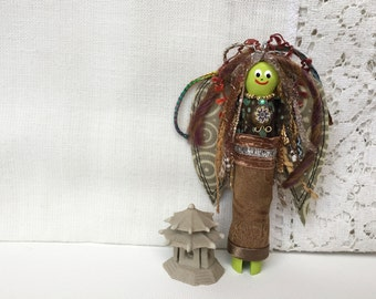 Folk Art Angel Doll  - Handmade Art Doll - Don't Worry Doll - OOAK Angel Doll - Worry Doll - Gift for Her - Guardian Angel - Folk Art Angel