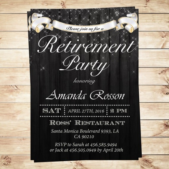 elegant retirement party invitations surprise retirement