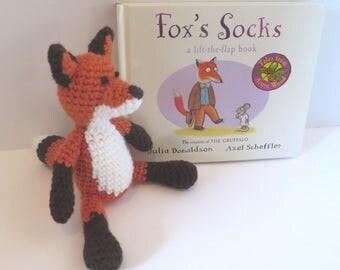 Crochet Fox with Fox's Socks story book