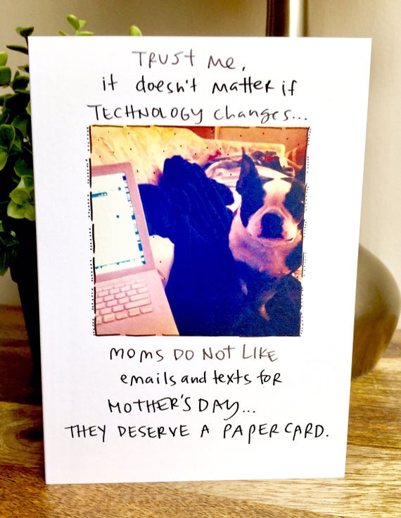 Mother's Day Card funny, funny mothers day card, card for mom, Unique Mother's Day card, Moms deserve a paper card