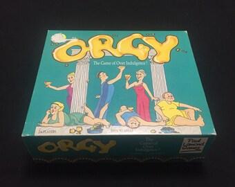Orgy Lamond Board Game 1989 - Drinking & Eating Roman Game - Vintage