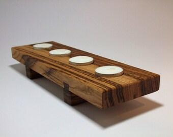 Candle holder - new -  italian chesnut