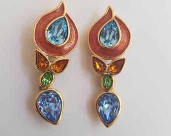Vintage YVES SAINT LAURENT earrings