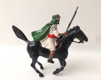 Vintage Britains Lead Toy Soldier Arab Mounted on Horse with Musket