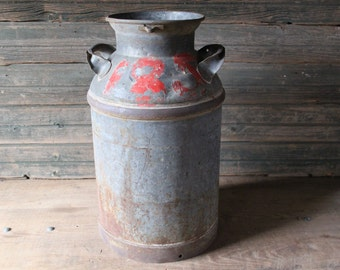 Metal milk can without lid