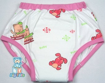 Adult Baby Bunnies and Puppies training pants ABDL