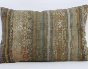 Lumbar Kilim Pillow Throw Pillow Ethnic Pillow 16x24 Decorative Kilim Pillow Sofa Pillow Home Decor Boho Pillow Cushion Cover   SP4060-474