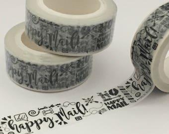 Happy Mail Washi Tape, Washi Roll, Washi, Washi Tape, Happy Mail, Mail Washi, Etsy Seller Washi,