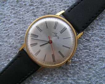 Vintage Watch LUCH Ultra Slim 23 Jewels! Gold Plated Au10 - Serviced