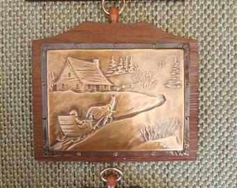 Set of 3-Vintage copper art- by Artisan A.Nadeau