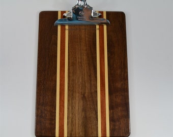 Striped walnut clipboard