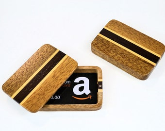 Mahogany stripe gift card box
