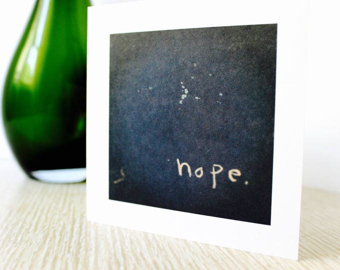 "Any Occasion/Friendship Greeting Card ""Hope"""